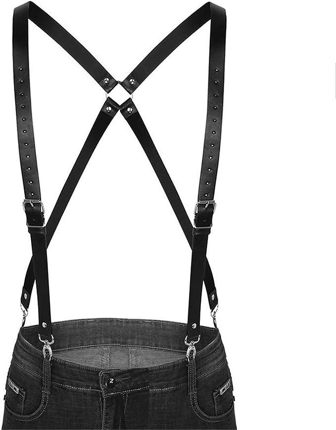 YDYCD Suspenders - Cinturón de arnés con 4 clips elásticos ...