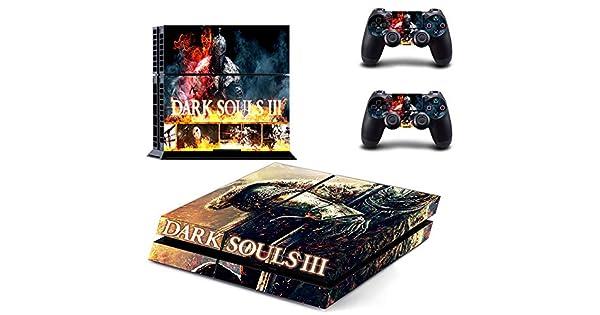 Playstation 4 + conjunto pegatina de protección – Dark Souls III ...