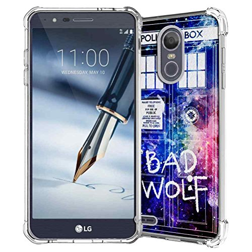 LG Stylo 3 Case, LG Stylo 3 Plus Case, LG Stylus 3 Case, LG K10 Pro LS777 Case, SuperbBeast Slim Thin TPU Bumper Gel Rubber Silicone Protective Case Cover (Police Box Pattern)