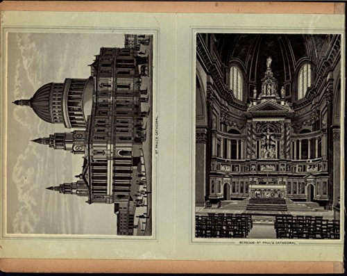 Tower Bridge St. Paul Cathedral Interior Thames 1890s antique London city views