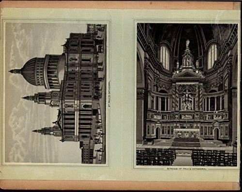 Tower Bridge St. Paul Cathedral Interior Thames 1890s antique London city views 1890s Antique