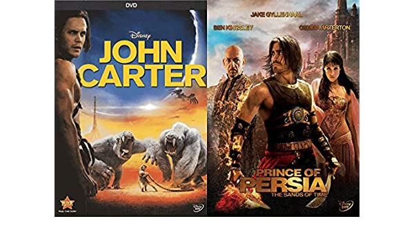 Amazon Com Disney Live Action Conquests Prince Of Persia The Sands Of Time John Carter 2 Dvd Bundle Disney Live Action Jake Gyllenhaal Taylor Kitsch Movies Tv
