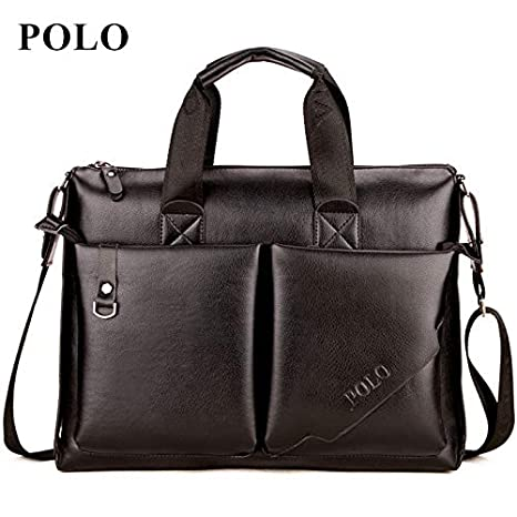 Amazon.com: Polo Men Briefcase Leather Handbag 2018 ...