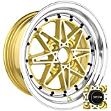 Drag Wheels DR-20 15x7/ 4x100 et10 Gold Machined Face rims