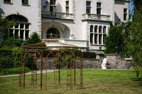 Stabiler Gartenpavillon aus Metall, ROST 350cm , Pavillon
