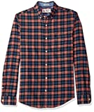 Original Penguin Men's Flannel Plaid Dress Shirt, Dark Sapphire, Medium