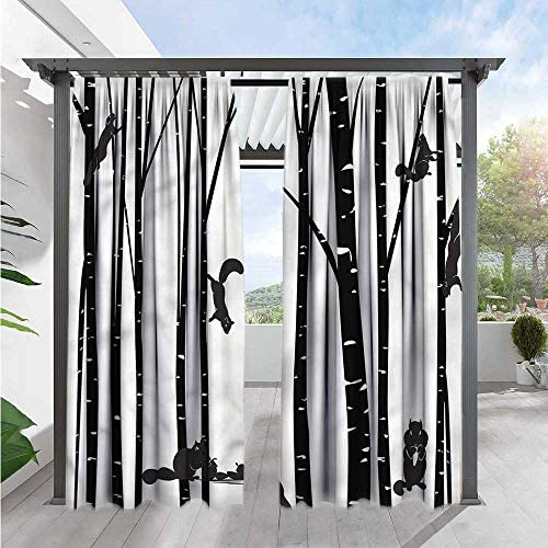 Marilds - Cortina para Puerta corredera con diseño de Flores en viñetas, Color Blanco y Negro: Amazon.es: Jardín