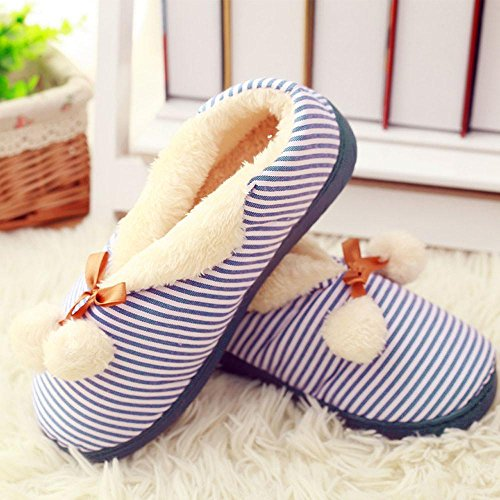 Elevin (tm) Nieuwe Zwangere Vrouwen Thuis Slippers Gesplitst Winter Warme Schoenen Yoga Schoenen Blauw