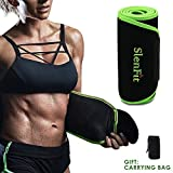 Singhi Waist Trimmer Sweat Belt for Fast Loss Waist Trainer for Women & Men Adjustable Stomach Fat Burner Exercise Wrap