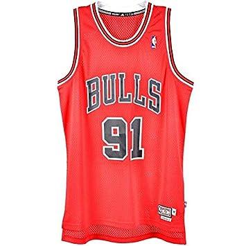 Adidas Camiseta Baloncesto NBA Dennis Rodman Bulls Chicago Bulls 91 Cod. l70658: Amazon.es: Deportes y aire libre