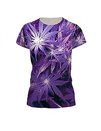 Jiayiqi Unisex Funky Digital Print T-shirt 3D Graphic Short Sleeve Tees