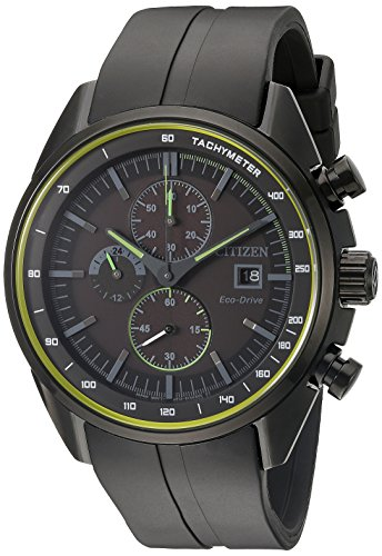 Drive-From-Citizen-Eco-Drive-Mens-Quartz-Stainless-Steel-and-Polyurethane-Casual-Watch-Color-Black-Model-CA0595-11E