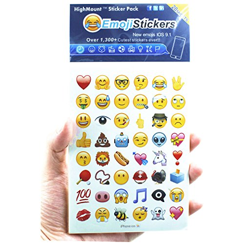 HighMount Newest Emoji Stickers 28 Sheets with Happy Faces Kid Stickers from iPhone Facebook Twitter by HighMount