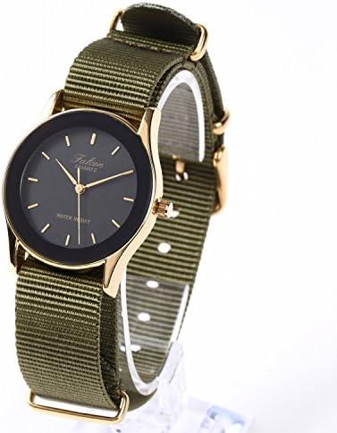 NATMK NATO 時計ベルト ナイロン 時計バンド 18mm ゴールドバックル 取付マニュアル付 (ブラック)