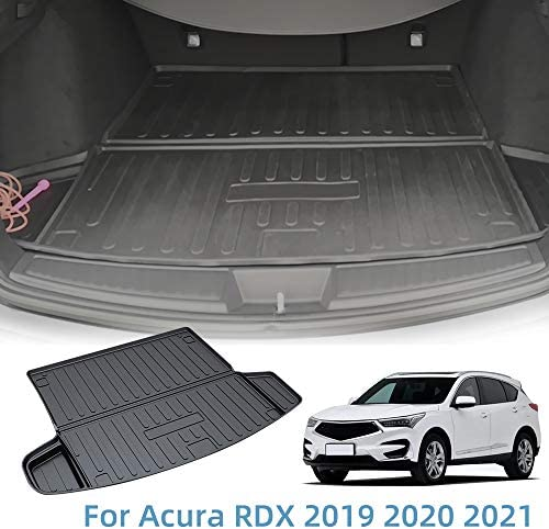 Vesul Rear Trunk Cover Waterproof Cargo Liner Floor Mat Fit for Acura RDX 2019 2020 2021 Mat Tray Odorless TPO Cargo Carpet
