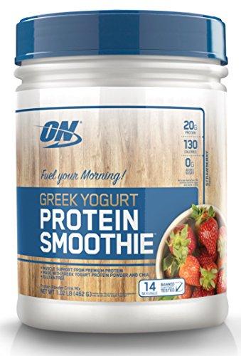 OPTIMUM NUTRITION On Greek Yogurt 14 Servings Protein Smoothie, Strawberry, 1.02 Pound