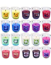 Set of 20 Scented Candles with 10 Fragrances, Small Glass Soy Wax Votive Candles for Party Dinner Yoga and Thanksgiving Christmas Gift