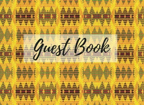 Search : Guest Book: (African Fabric (15), Event Guest Book, For Events, Anniversary, Retirement Party, Wedding, Birthday,101 pages - [Professional Binding]