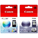 Canon PG-210XL /CL-211XL Color Ink Cartridge Combo Pack-Black