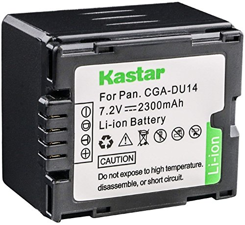 Kastar CGR-DU14 Replacement Battery for Panasonic PV-GS39 Camcorder and Panasonic CGR-DU07 CGA-DU07 CGR-DU14 CGA-DU14 CGR-DU21 CGA-DU21 VW-VBD210 ()