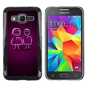 Be Good Phone Accessory // Dura Cáscara cubierta Protectora Caso Carcasa Funda de Protección para Samsung Galaxy Core Prime SM-G360 // Couples Love