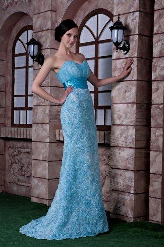 GEORGE traegerlosen Abendkleid weise Blau Blau BRIDE Neuer und Entwurfsart Meerjungfrau rq0frAw