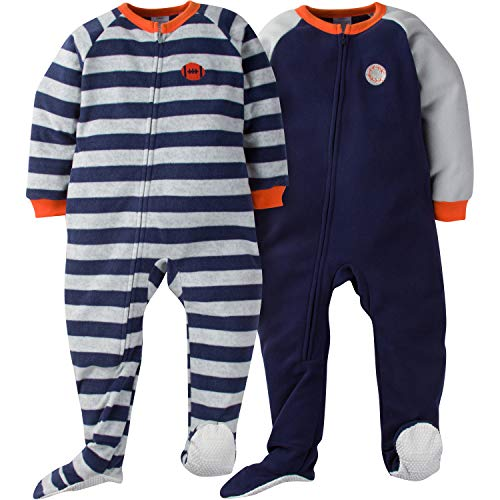 Gerber Boys' 2-Pack Blanket Sleeper, Sport Stripe -