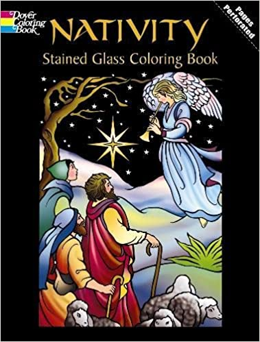 Nativity Stained Glass Coloring Book (Holiday Stained Glass Coloring ...
