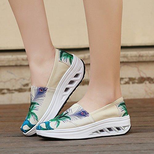Cabeza EUR37 la Agite Poner Los Los de Moda de Impermeable Flojos Zapatos Bajos azul de con Zapatos Flojos Los Los Alrededor de Prusia para Ayudar Zapatos a Pies wBwqr