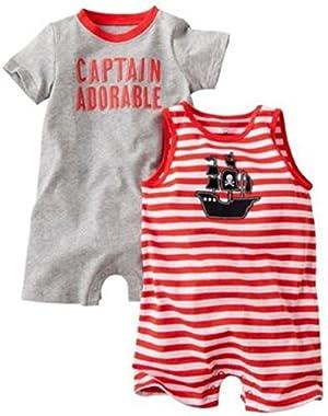 Carter's Baby Boys 2pk Pirate Romper Set (Newborn)