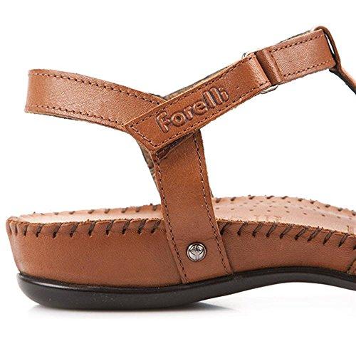 Forelli Leather Slingback Sandal with Stitch & Stud Design 123 029 Whisky VPxHAntcyx