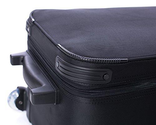 "51d9NwJEF9L - Fovitec - 1x Professional Photography & Video Lighting Equipment Roller Bag - [43"" x 13"" x 11""][EZ Glide Wheels][Durable Webbed Nylon][Fleece Lining]"