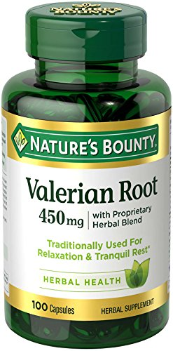 Nature's Bounty Valerian Root Pills and Herbal Health Supplement, Promotes Relaxation, 450mg, 100 Capsules For Sale