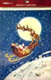 Best Value Advent Calendar for Christmas.Santa in Sleigh Moon in sky. Imported. Perfect Holiday Gift {jg} For mom, dad, sister, brother, friend, gay,