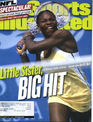 (Sports Illustrated September 20 1999 Serena Williams/U.S. Open Winner on Cover, Edgerrin James/Indianapolis Colts, Tom Coughlin/Jacksonville Jaguars, Jamal Lewis/University of Tennessee, Billy Wagner/Houston Astros)