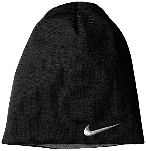 Nike Reversible Knit Beanie - BLACK/DARK GREY/DARK (Nike Lightweight Beanie)