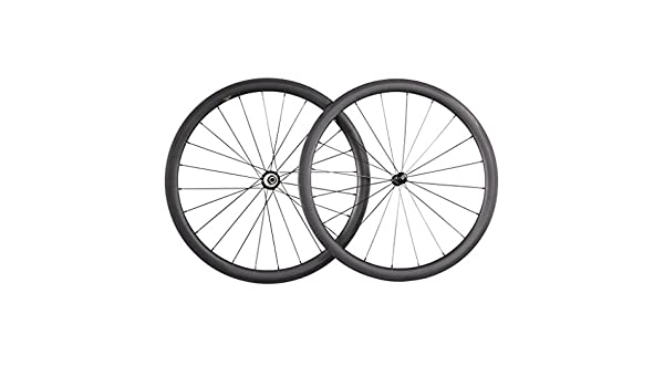 ICAN 40 mm Clincher Tubeless Ready borde 27 mm Anchura de carbono carretera bicicleta ruedas basalto freno superficie: Amazon.es: Deportes y aire libre