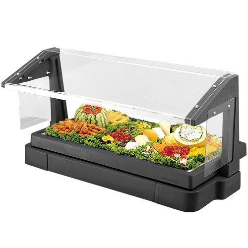 Cambro BBR720110 Black 5 Pan Tabletop Salad Bar