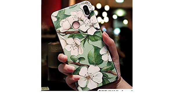 Amazon.com: KCHHA Phone case Soft 3D Emboss Case for Huawei ...