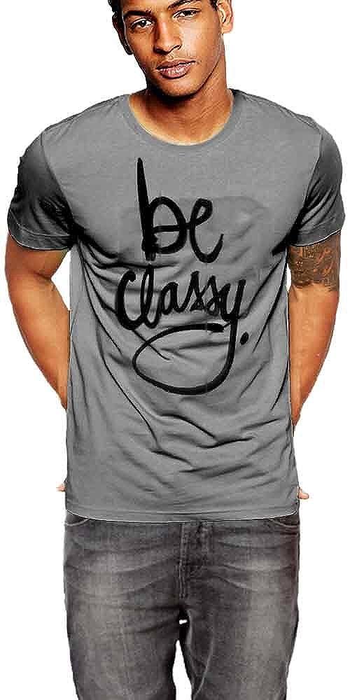 Be Classy T-shirt Dark Grey Cotton Tee