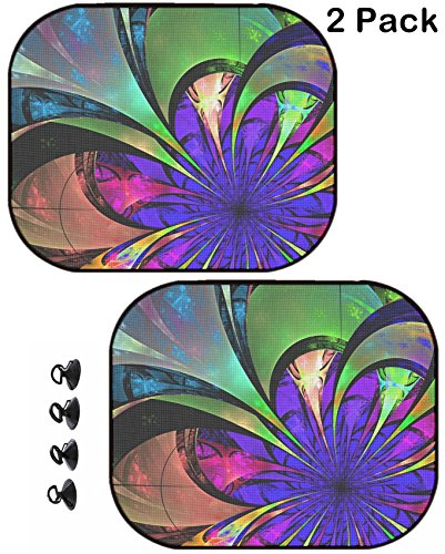 - MSD Car Sun Shade Protector Block Damaging UV Rays Sunlight Heat for All Vehicles, 2 Pack Image ID: 35316707 Flower Background Blue Purple and Green Palette Fractal Design Compu