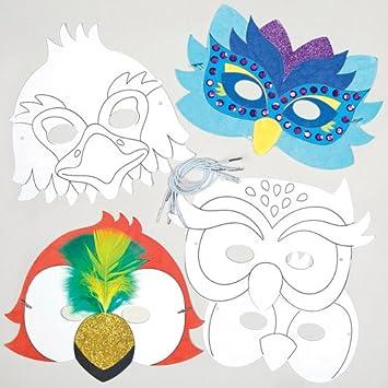 Kits de caretas de pájaro para colorear que los niños pueden diseñar ...