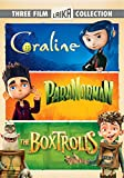 DVD : The Boxtrolls, ParaNorman, Coraline Triple Feature (Three-Disc DVD)
