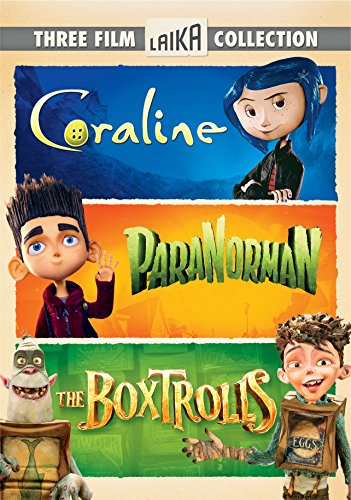The Boxtrolls, ParaNorman, Coraline Triple Feature (Three-Disc DVD) -