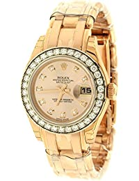 Lady Datejust Champagne Dial 18K Pink Gold Automatic Watch 179175CRJ
