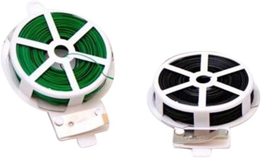 Domilay 30M Pegamento NúCleo de Alambre de Hierro Planta Verde Sujetador de Cable Suave Fijo con Metal JardineríA Flor Vendaje de Alambre de UnióN