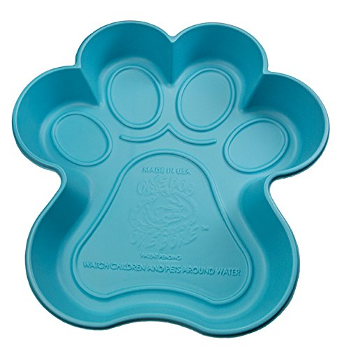 One Dog One Bone BPP02 Paw Shaped Dog Pool Made with Heavy Duty Truck Bed Liner Material Flexes like...