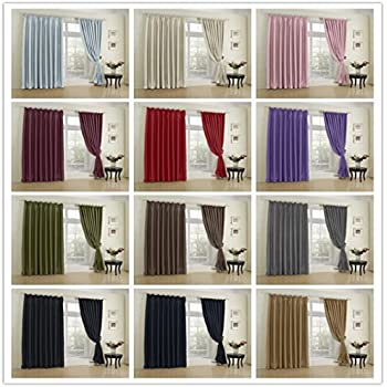 COFTY Classic Solid Thermal Insulated Blackout Curtain Panel Drapes Beige    72Wx84L Inch (1 Panel