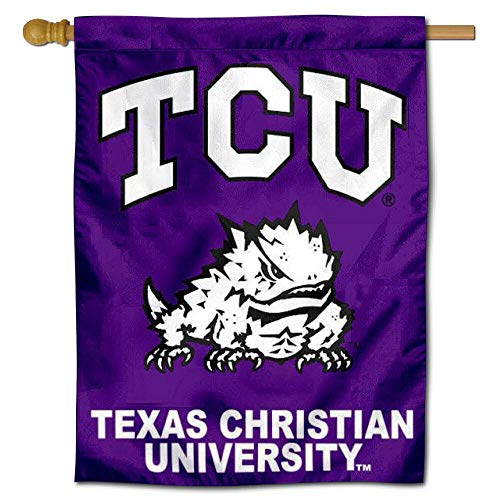 College Flags and Banners Co. TCU Texas Christian University Horned Frogs House Flag