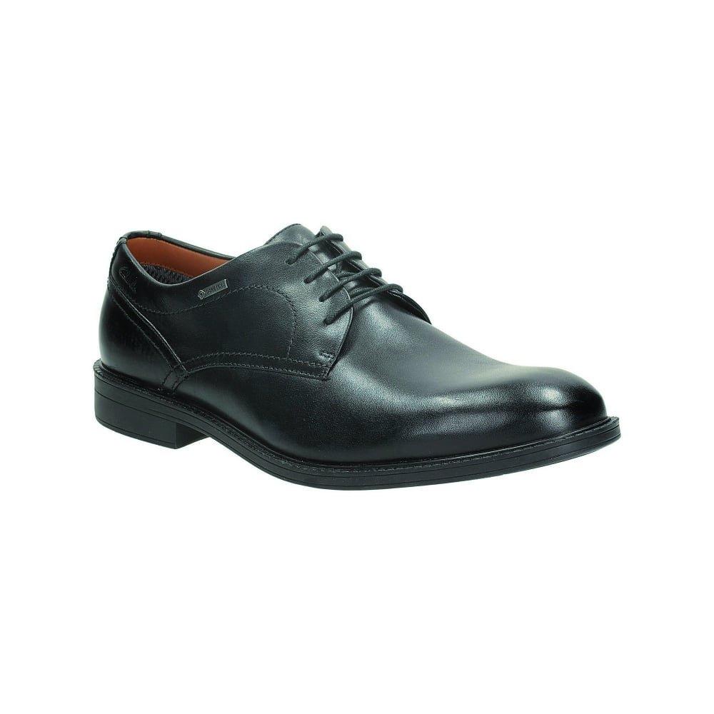 Clarks Gore-Tex ChilverWalk 261096897 Mens black Leather Business shoes 44.5 EU (10.5 M US Men)